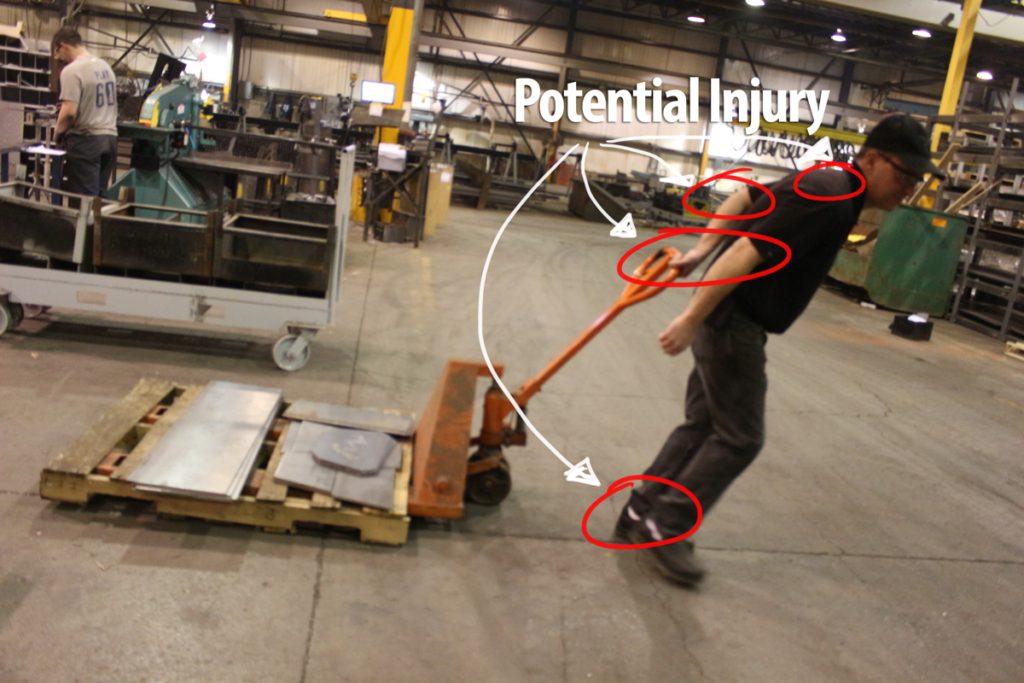 prevent injury, pallet truck, safety