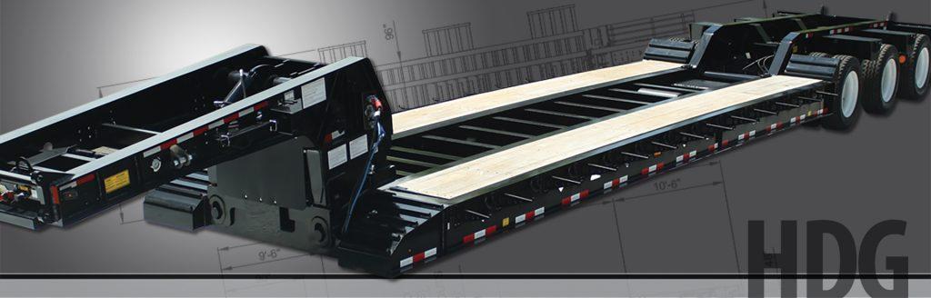 Hydraulic Detachable Gooseneck - BWS Construction Trailers