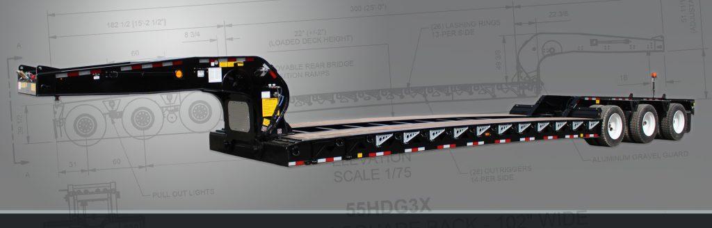 Hydraulic Detachable Goosneck - BWS HRGN Lowboys Trailers